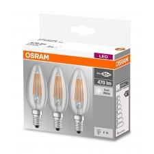 LED ŽIAROVKY B40 E14 4W = 40W 470lm OSRAM 4000K 320° 3PAK
