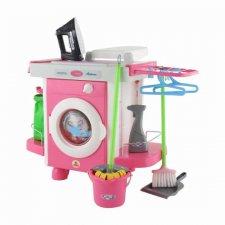 Detská práčka s príslušenstvom na upratovanie