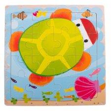 Detské puzzle: Korytnačka - 16ks