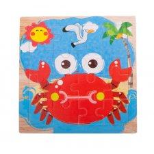 Detské puzzle: Krab - 16ks