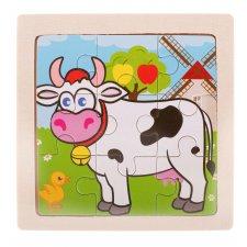 Detské puzzle: Kravička - 9ks