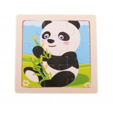 Detské puzzle: Panda - 9ks