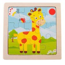 Detské puzzle: Žirafa - 9ks