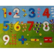 Drevené puzzle: Čísla