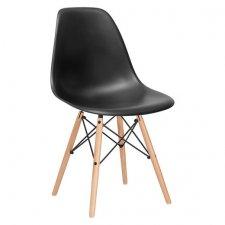 Jedálenská stolička Milano modern - čierna - 1ks