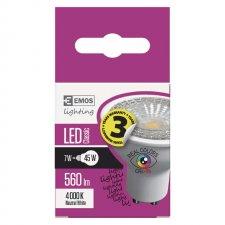 LED žiarovka Classic 7W GU10 neutrálna biela Ra96