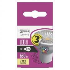 LED žiarovka Classic 7W GU10 teplá biela Ra96