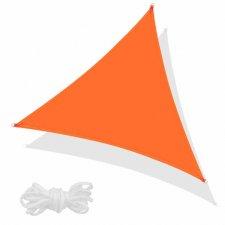 SPRINGOS Tieniaca plachta trojuholník 500x500x500cm - oranžová