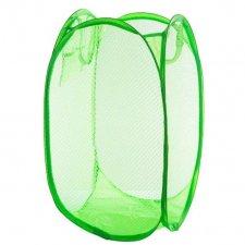 Skladací odkladací košík so sieťovinou farba zelená