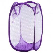 Skladací odkladací košík so sieťovinou farba fialová