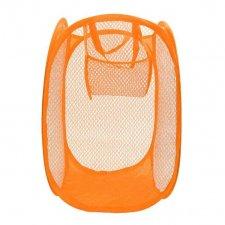 Skladací odkladací košík so sieťovinou farba oranžová