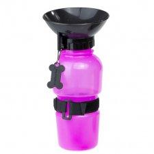 Cestovná fľaša pre psa ružová