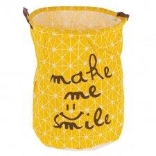 Látkový kôš na pranie 50x40 žltý