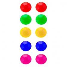 Farebné magnety na tabuľu 10ks
