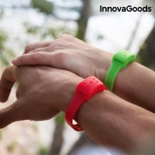 InnovaGoods Repelentný Náramok s vôňou Citronely - zelený