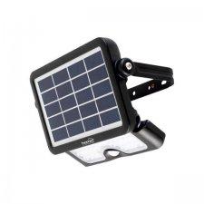 LED reflektor so solárnym panelom a PIR pohybovým senzorom