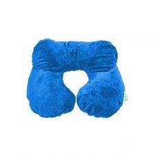 Nafukovací cestovný vankúšik - modrý