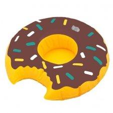 Nafukovací podnos na nápoje – hnedý donut