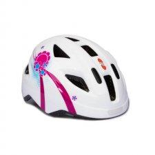 Prilba Puky S bielo-ružová