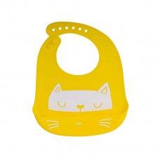Silikónový podbradník žltá mačička