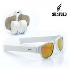 Skladacie slnečné okuliare Roll-up Sunfold ST1 - White GOLD