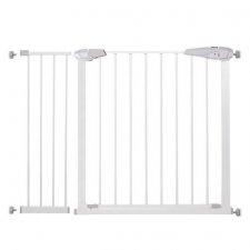 SPRINGOS Bezpečnostná bariérová zabrána pre schody a dvere - biela - 76-113 cm