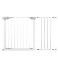 SPRINGOS Bezpečnostná bariérová zábrana pre schody a dvere - biela - 77-112 cm