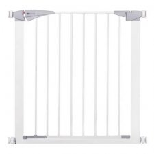 SPRINGOS Bezpečnostná bariérová zábrana pre schody a dvere - biela - 77-84 cm