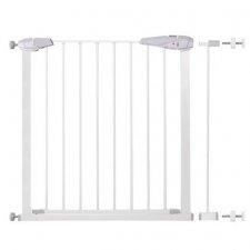SPRINGOS Bezpečnostná bariérová zábrana pre schody a dvere - biela - 77-91 cm