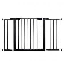 SPRINGOS Bezpečnostná bariérová zábrana pre schody a dvere - čierna - 75-124cm
