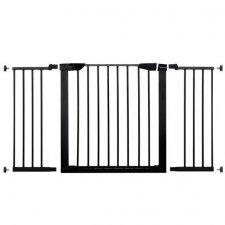 SPRINGOS Bezpečnostná bariérová zábrana pre schody a dvere - čierna - 75-138cm