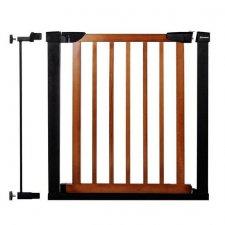 SPRINGOS Bezpečnostná bariérová zábrana pre schody a dvere - čierno-hnedá - 75-89 cm