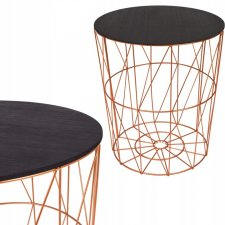 SPRINGOS drôtený konferenčný stolík 40cm - medený