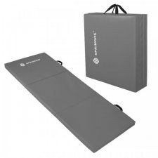 SPRINGOS Fitness gymnastická podložka skladaná 180cm - sivá