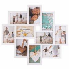 SPRINGOS Fotorámik na 10 fotografií multiframe 10x15 - biely