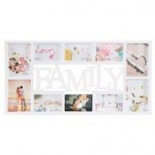 SPRINGOS Fotorámik na 10 fotografií multiframe FAMILY - biely