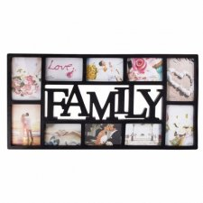 SPRINGOS Fotorámik na 10 fotografií multiframe FAMILY - čierny