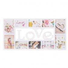 SPRINGOS Fotorámik na 10 fotografií multiframe LOVE - biely
