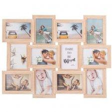 SPRINGOS Fotorámik na 12 fotografií multiframe 10x15 - imitácia dreva