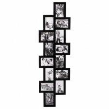 SPRINGOS Fotorámik na 14 fotografií multiframe 10x15 - čierny