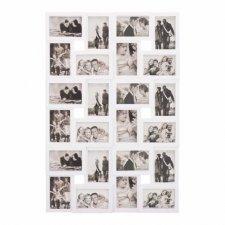 SPRINGOS Fotorámik na 24 fotografií multiframe 10x15 - biely