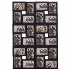 SPRINGOS Fotorámik na 24 fotografií multiframe 10x15 - čierny