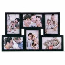 SPRINGOS Fotorámik na 6 fotografií multiframe 10x15 - čierny