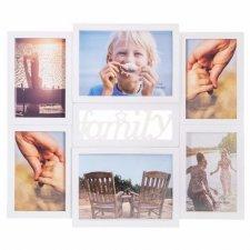 SPRINGOS Fotorámik na 6 fotografií multiframe FAMILY - biely