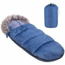 SPRINGOS Fusak Luxury s kožušinou 4v1 - 90cm - modrý