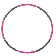 SPRINGOS Hula hop Clasic masážny sivo-ružový - 100cm