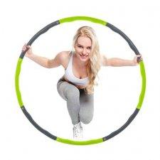 SPRINGOS Hula hop Clasic masážny sivo-zelený - 100cm