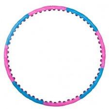 SPRINGOS Hula hop Premium masážny s guličkami - ružovo-modrý - 100cm
