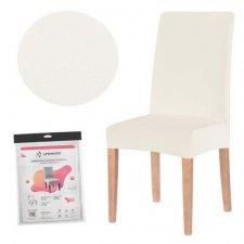 SPRINGOS Návlek na stoličku univerzálny - béžový