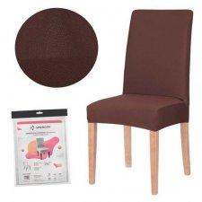 SPRINGOS Návlek na stoličku univerzálny - hnedý